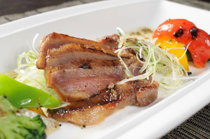 Japanese food. Japanese sashimi food on dish royalty free stock images