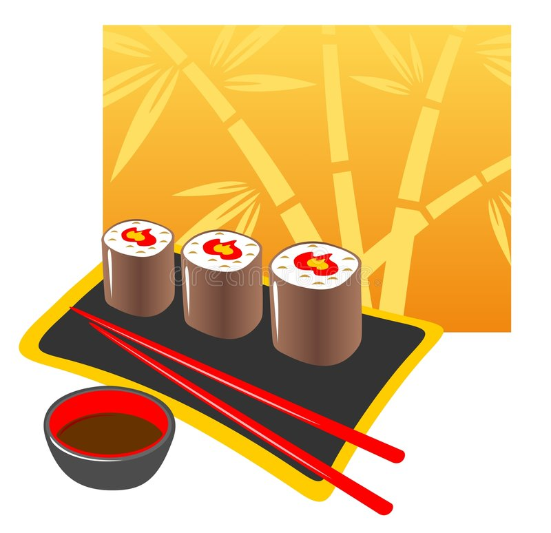 Download Japanese food stock vector. Image of cuisine, background - 5312052