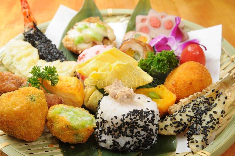 Japanese food. Japanese sashimi food on dish royalty free stock photos