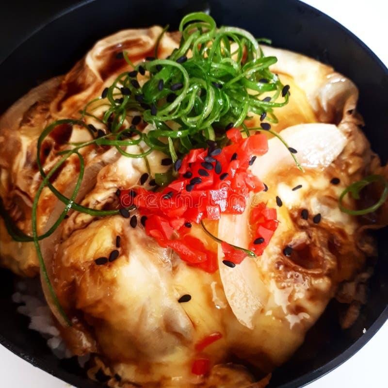 Donburi. Japanese Food & x28;Donburi, Rice Bowl& x29 stock photo