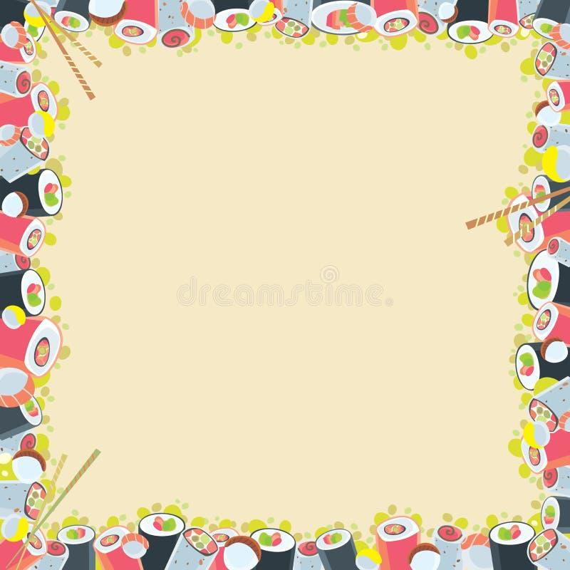 Japanese food frame stock vector. Illustration of menu - 38622280