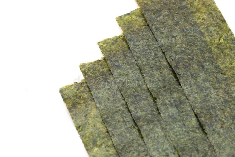 Japanese food, Nori dry seaweed sheets royalty free stock photos