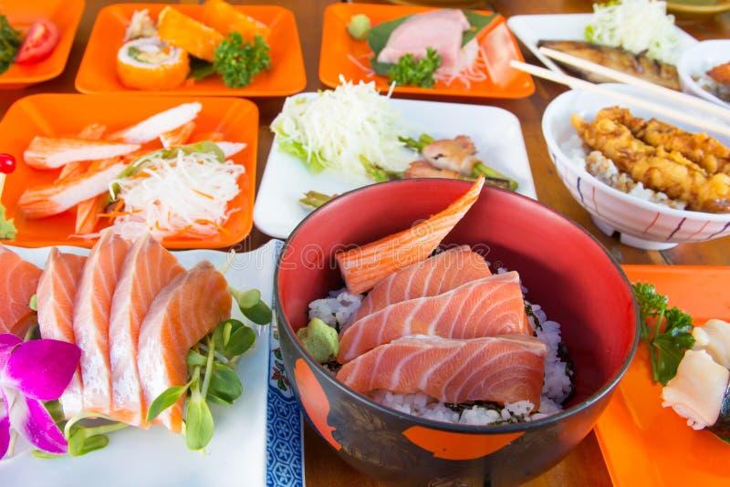 Japanese food sashimi royalty free stock photography