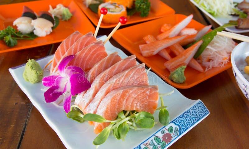 Japanese food sashimi stock photo