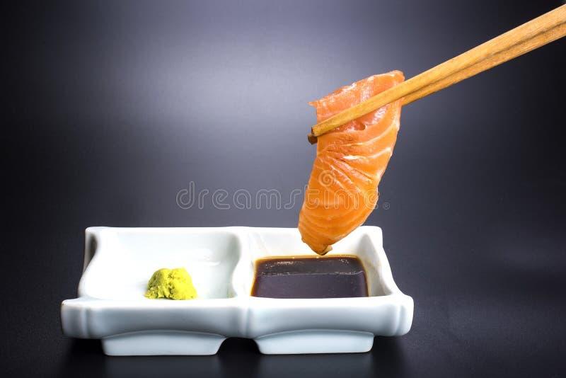 Japanese food with seafood menu royalty free stock photos