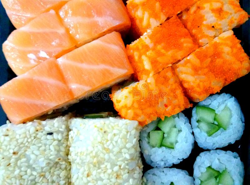 Japanese food. Sushi. royalty free stock image