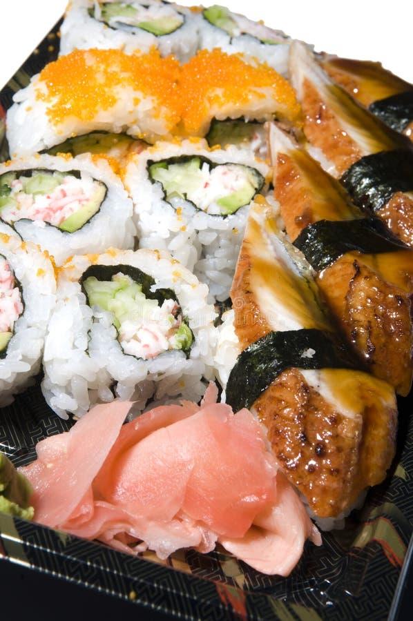 Japanese food sushi sashimi royalty free stock photography