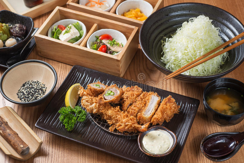 Japanese food. On a table stock photo
