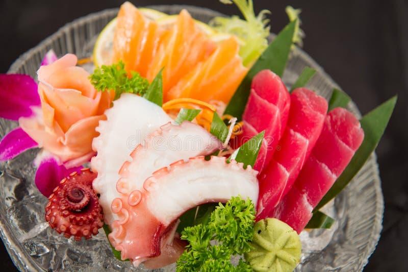Japanese foods sashimi stock photography