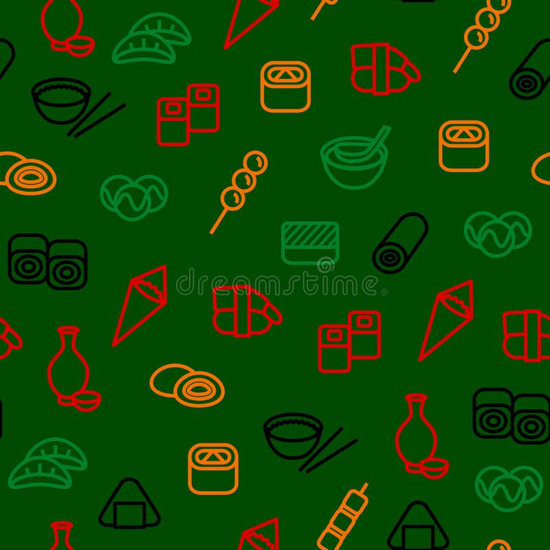 Free Japanese Foods Seamless Pattern Background. Vector Stock Photography - 116744962