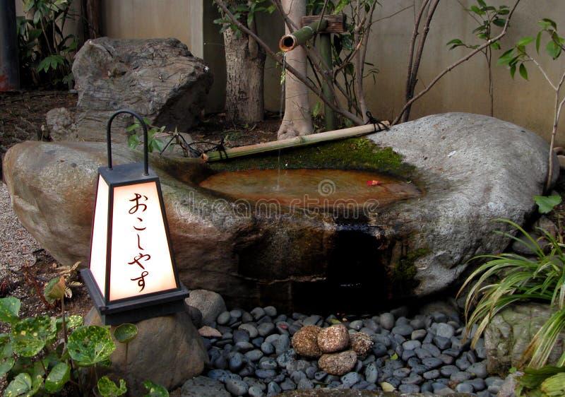 Japanese fountain royalty free stock photo