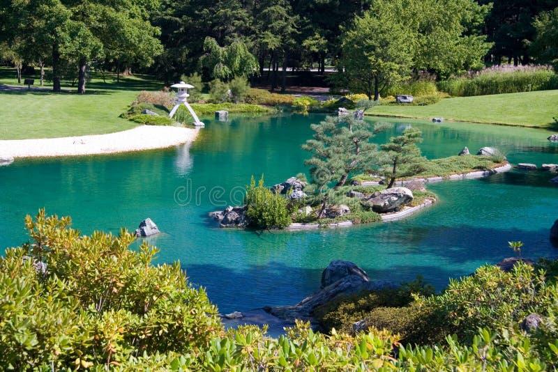 Download Japanese Garden stock photo. Image of garden, water, island - 1088370