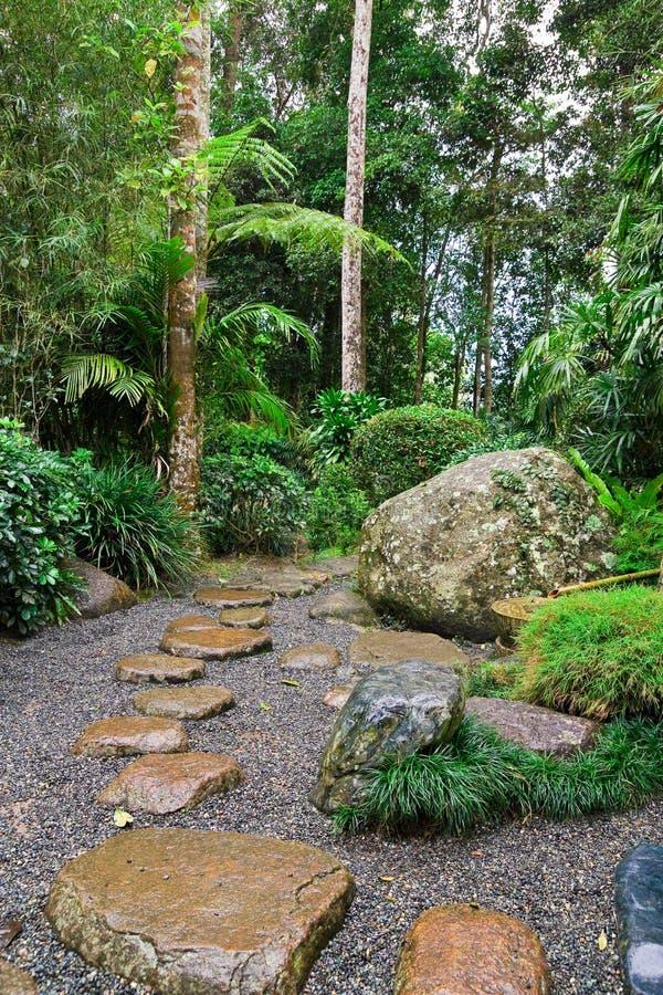 Japanese Garden. Image of a Japanese Garden Landscaping Concept royalty free stock photo