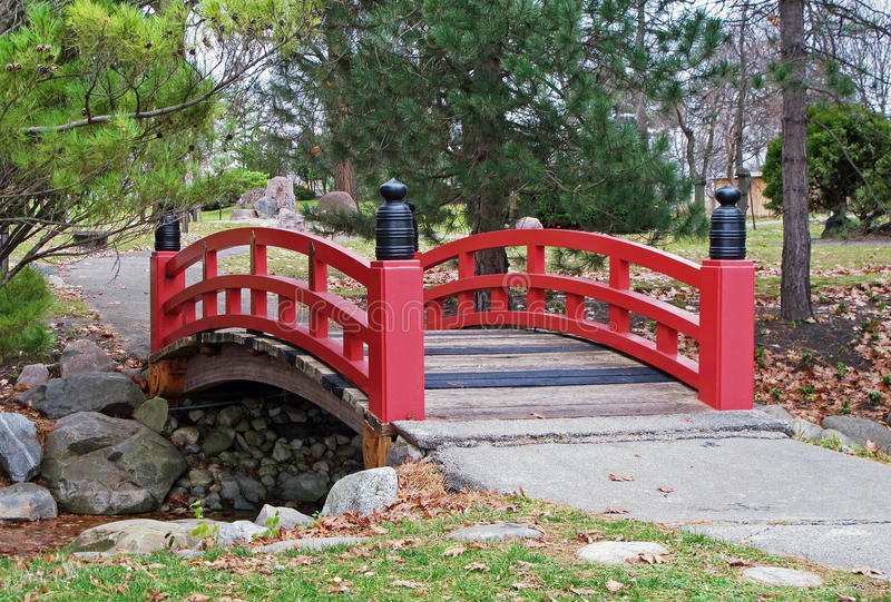 Download Japanese Garden Bridge Stock Image. Image Of Stream, Rocks    21682651