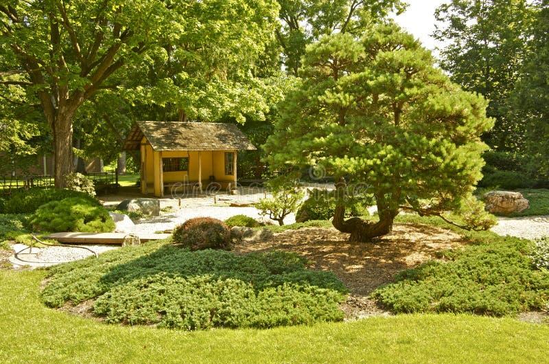 Japanese Garden at Carleton College. In Northfield, Minnesota, USA stock photos