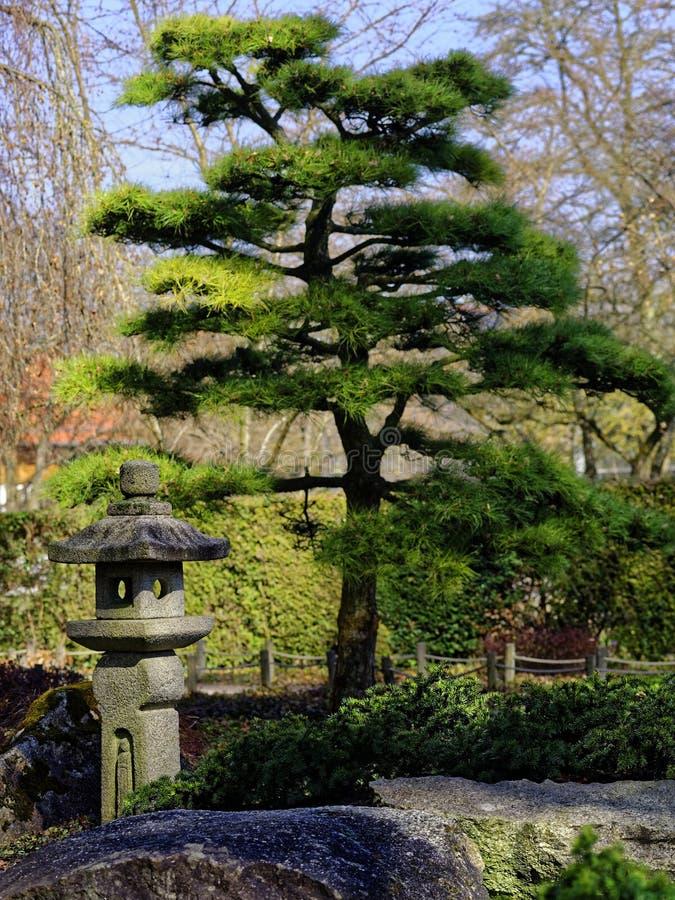 Japanese Garden landscaping detail royalty free stock photo