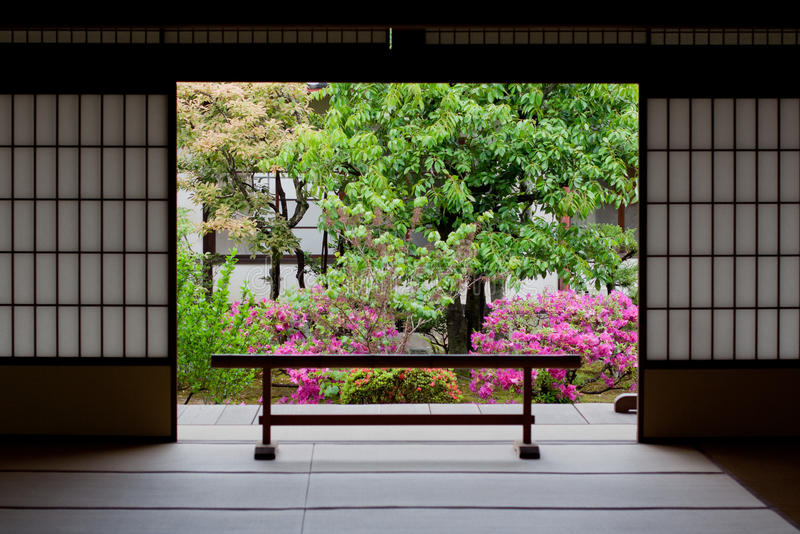 Download Japanese garden in Kyoto stock photo. Image of japan - 16405902