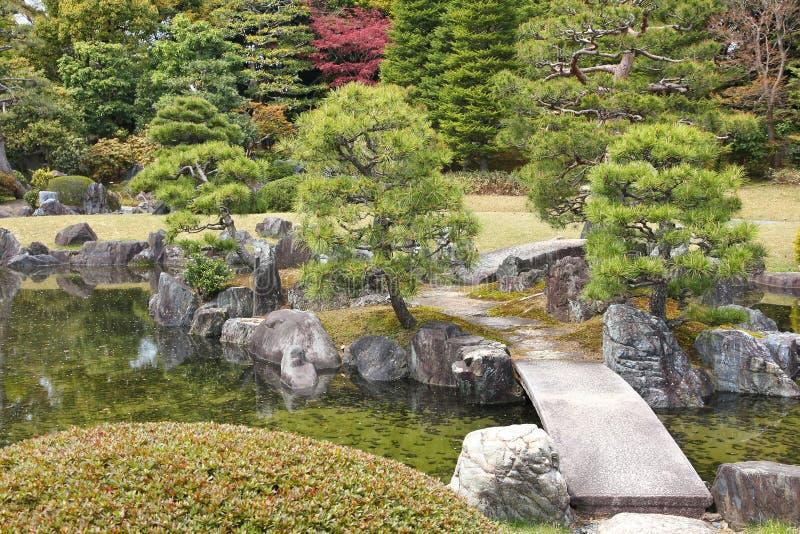 Japanese garden in Kyoto stock photos