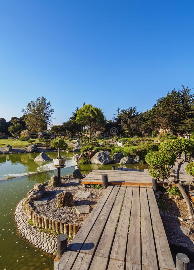 La Serena in Chile. Japanese Garden, La Serena, Coquimbo Region, Chile royalty free stock photography