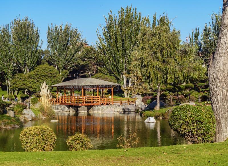 La Serena in Chile. Japanese Garden, La Serena, Coquimbo Region, Chile royalty free stock images