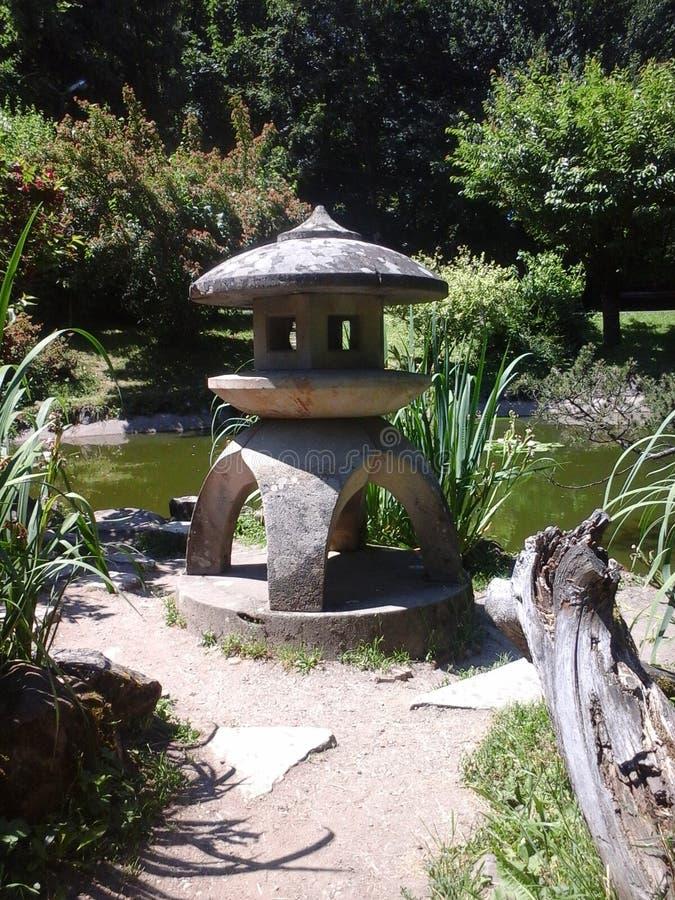 japanese garden lantern stock image image of oriental. Black Bedroom Furniture Sets. Home Design Ideas
