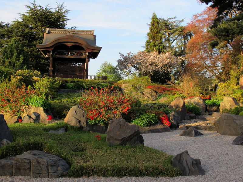 Japanese Garden in London royalty free stock images