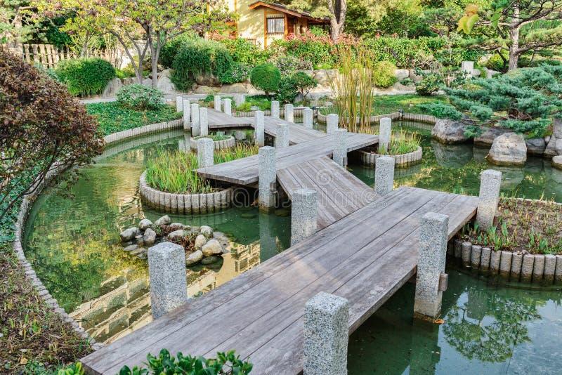 Japanese garden in Monte Carlo,. Monaco royalty free stock images