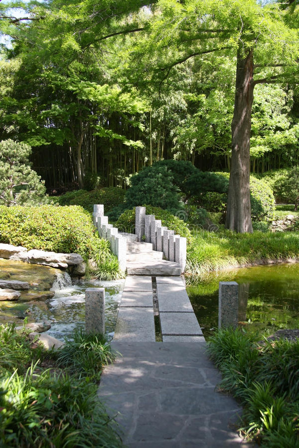 Japanese garden spring city Fort Worth stock photography