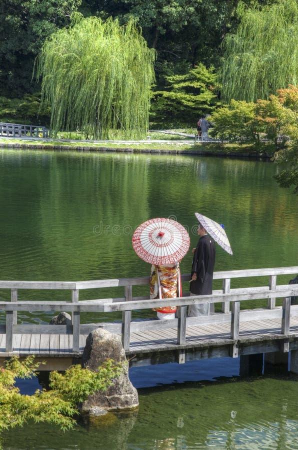 Japanese garden, Nagoya, Japan royalty free stock image