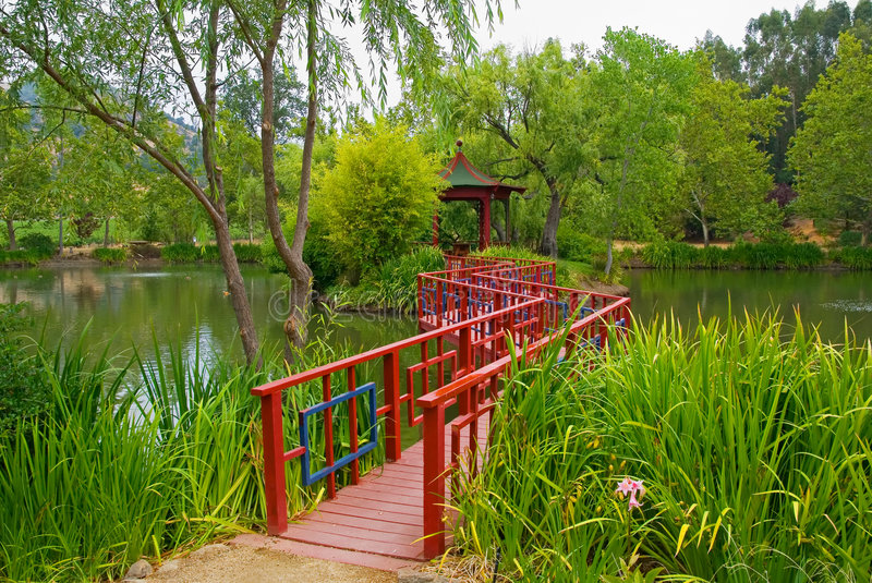 Japanese Garden in Napa Valley stock images