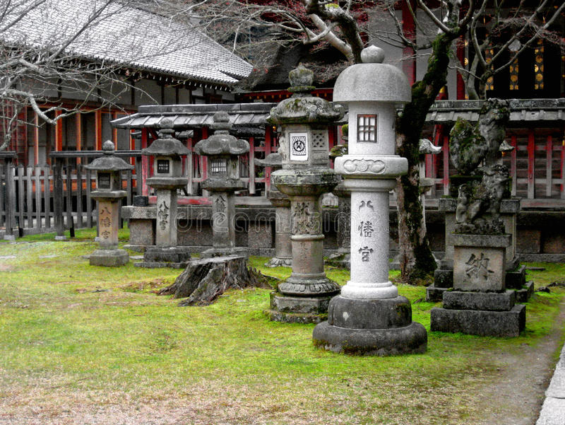 Download Japanese Garden Statues Stock Photo. Image Of Concrete   9469352