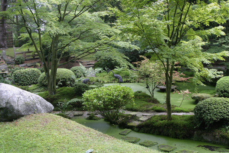 Japanese Garden, Tatton Park. A view of the Japanese Garden, Tatton Park England, UK stock photography