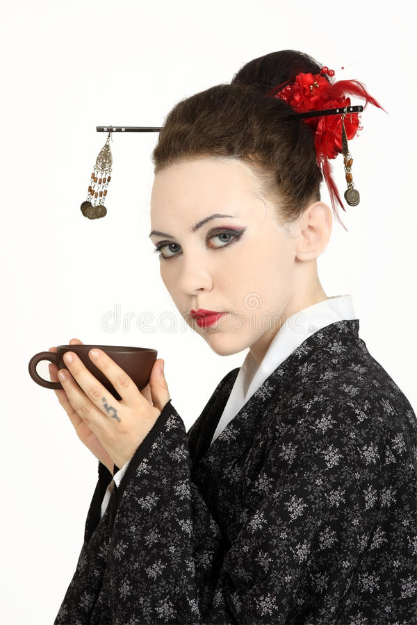 Download Japanese geisha stock image. Image of glamour, east, beautiful - 10574899