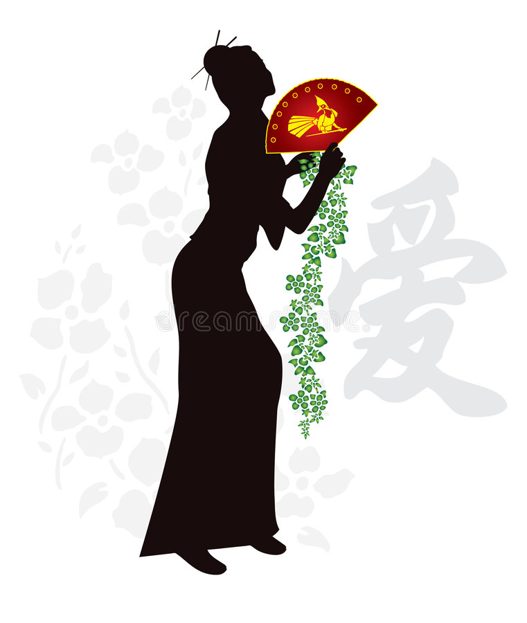 Download Japanese geisha stock vector. Illustration of people, ancient - 8598013