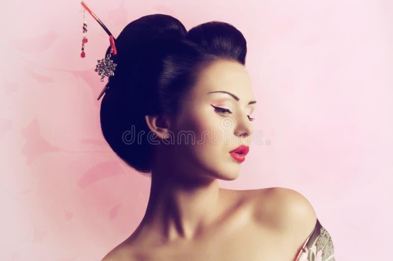 Japanese Geisha Woman Stock Photo Image 39821311