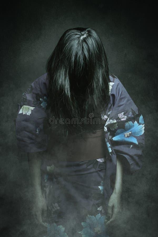 Japanese ghost in kimono dress royalty free stock photo