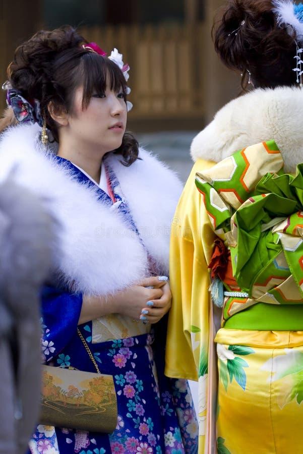 Free Japanese Girl Kimono Coming Of Age(seijin Shiki) Stock Photos - 17614943