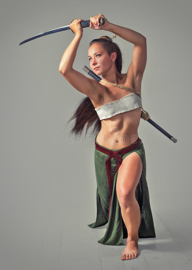 Japanese Girl Warrior Stock Photo Image Of Sword