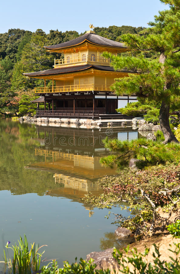Download Japanese golden pagoda stock image. Image of religion - 15460199
