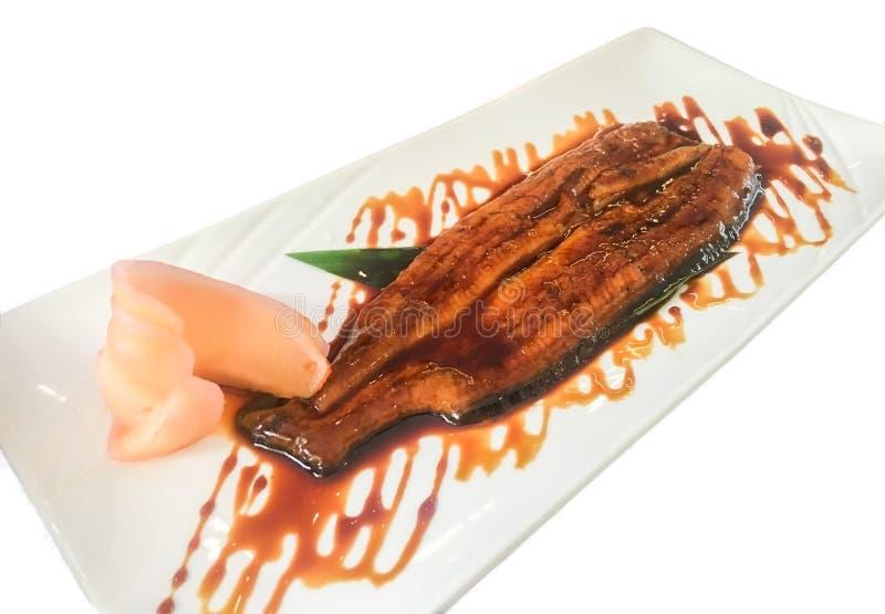 Japanese Grilled eel with teriyaki sauce, unagi. stock photo