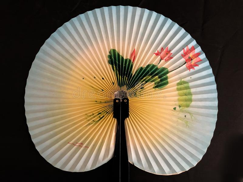 Japanese Hand Fan stock image