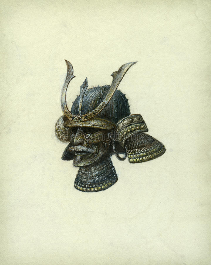 Japanese Helmet Stock Image
