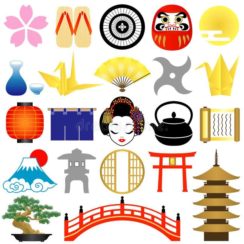 Download Japanese icons stock vector. Illustration of bottle, japan - 21819333
