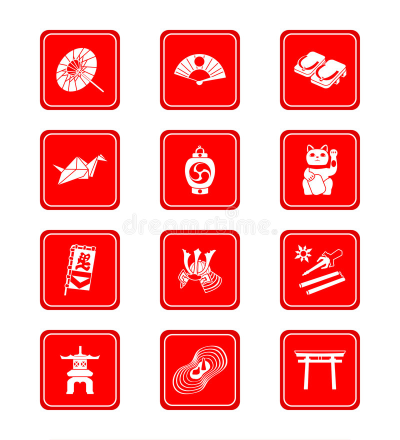 Download Japanese icons stock vector. Image of banner, japanese - 5693900