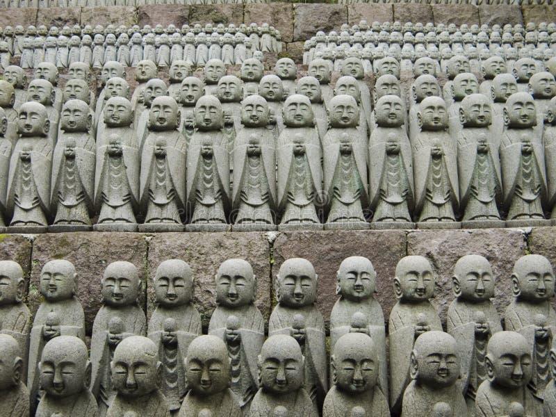 Japanese jizo sculptures royalty free stock photos