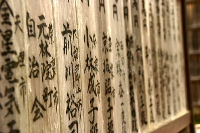 Japanese kanji stock photography