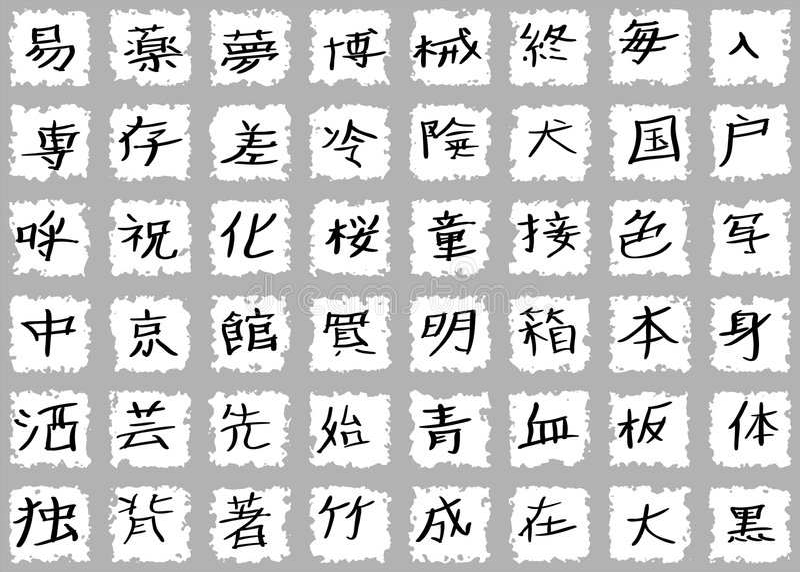 Japanese Kanji Characters royalty free stock photography