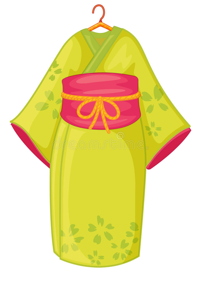 Japanese kimono stock illustration