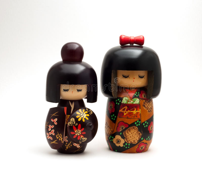 Japanese Kokeshi Dolls royalty free stock images