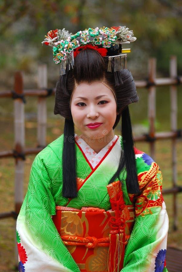 Japanese Lady In Kimono Himeji Japan Editorial Stock